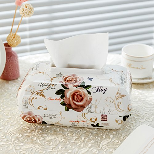 Decorative Continental Door - CLG-FLY Continental multi-purpose household tissue box living creative lovely car tray table Napkin box plastic,3
