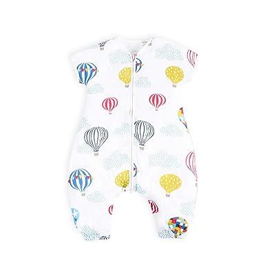 i-baby Saco Dormir Bebé Infantil Pijama Manta con Mangas Cortas Primavera Verano Algodón Gasa Niños 1 2 3 4 5 6 Años: Amazon.es: Bebé