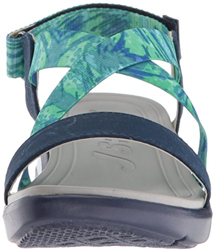 JSport Jambu Black Wedge Sunny Sandal by Blue WoMen rrUqHCw