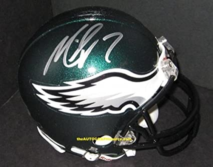 5c6f2cfb189 Image Unavailable. Image not available for. Color  Michael Vick Signed Mini  Helmet