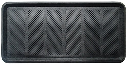 - A1HC Heavy Duty Flexible 16 In. X 31 In. 100% Rubber Boot Tray Mat Multi-Purpose Use for Shoes, Pets, Garden - Mudroom, Entryway, Garage Etc.