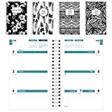 Brownline 2018-2019 Black & White Designs Weekly Academic Planner, 8 x 5, Week to View Diary, July 2018 to July 2019, Assorted Designs, Designs May Vary (CA101PG.ASX-19)