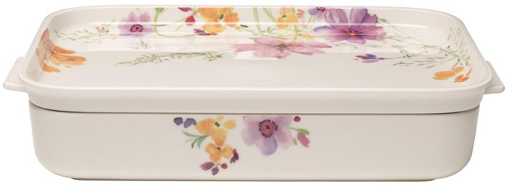 32x22 cm Porcelaine Premium Blanc//Multicolore Villeroy /& Boch Mariefleur Gris Plat de service de cuisson