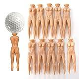 ONLY 10Pcs Novelty Joke Nude Lady Golf Tee Plastic Practice Training Golfer Tees