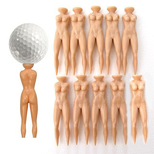 ONLY 10Pcs Novelty Joke Nude Lady Golf Tee Plastic Practice Training Golfer Tees FREE shipping - Black Croc Belt