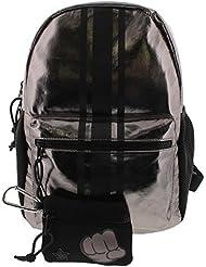 Ideology Womens Metallic Striped Backpack