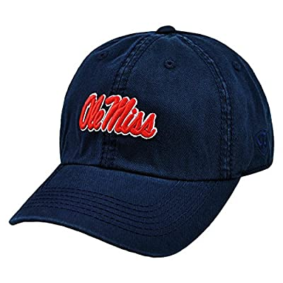 Top of the World Ole Miss Rebels Enzyme Washed Adjustable Hat - Navy, by Top of the World