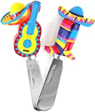 Mexican Fiesta Cheese Spreader, Set of 4
