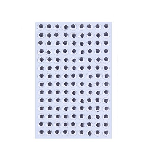 DECORA 15mm Wiggle Eyes Sticker Self-Adhesive Eyes for DIY Crafts -
