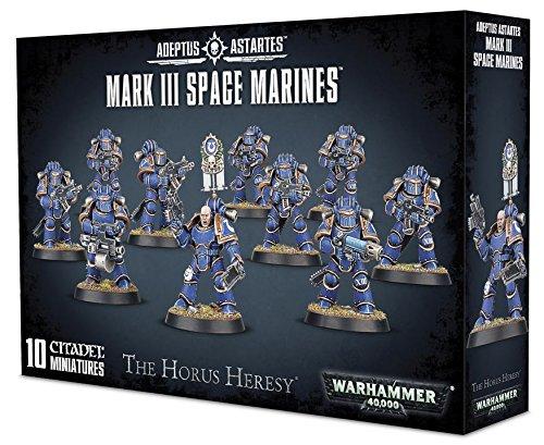 Warhammer 40K 40,000 Adeptus Astartes The Horus Heresy Mark III Space Marines (10 Miniatures) Photo