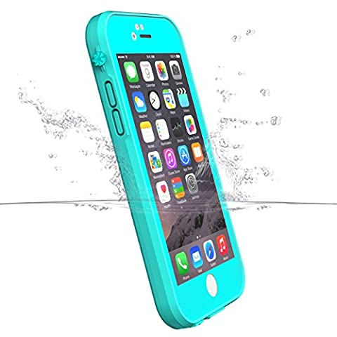 iPhone 6S Waterproof Case(30cm Life Waterproof), iThrough iPhone 6 Underwater Case, Dust Proof, Snowproof, Shockproof, Ultra Slim Durable Protective Case for iPhone 6 6S, 4.7 Inches (Blue Waterproof Iphone Case)