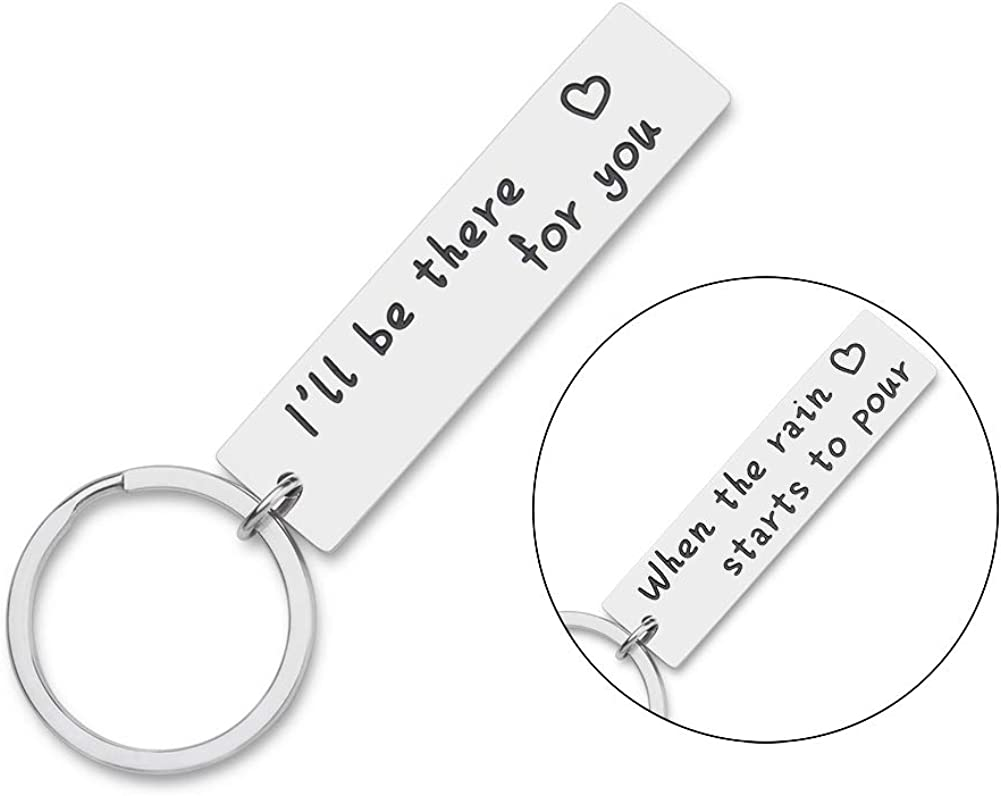 Best Friend Gift Keychain for Women Men Friends TV ShowMerchandise Quote Double-sided-Couples Gifts Keyrings for BFF Dad Mother Friendship Christmas Birthday Jewelry Gift