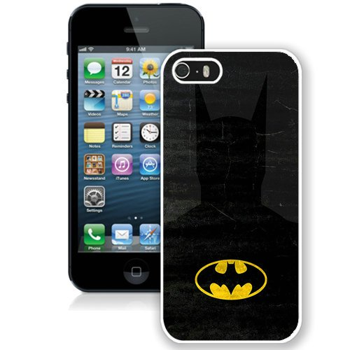Coque,Fashion Coque iphone 5S Abstract Batman blanc Screen Cover Case Cover Fashion and Hot Sale Design
