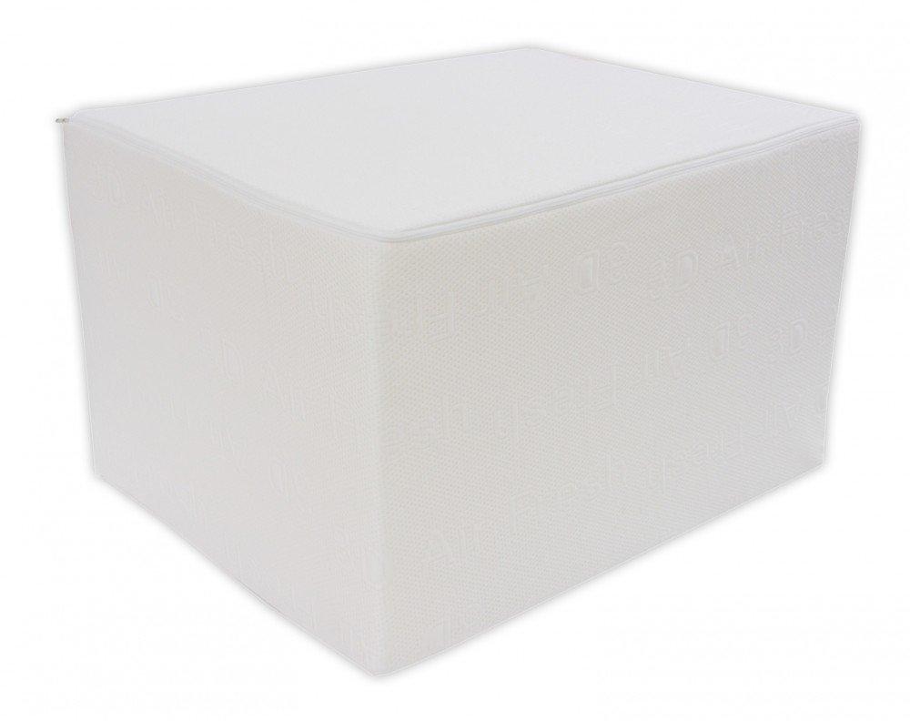 Bandscheibenwürfel mit 3D Air Fresh Bezug - Stufenlagerung, Stufenlagerungswürfel, Stufenbett, Reha, Orthopädischer, Positurkissen, Lagerungskissen, Stufenlagerung - 55 cm x 45 cm x 35cm