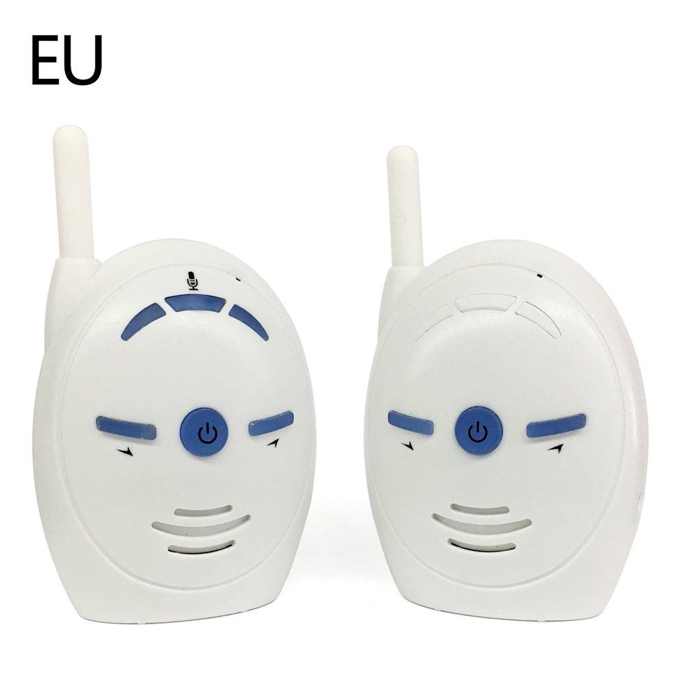 Ljourney Moniteur de Bébé sans Fil de Voix de V20 Soutient l'intercom Bidirectionnel Bébé Moniteur Bébé Dispositif de Soins Blanc