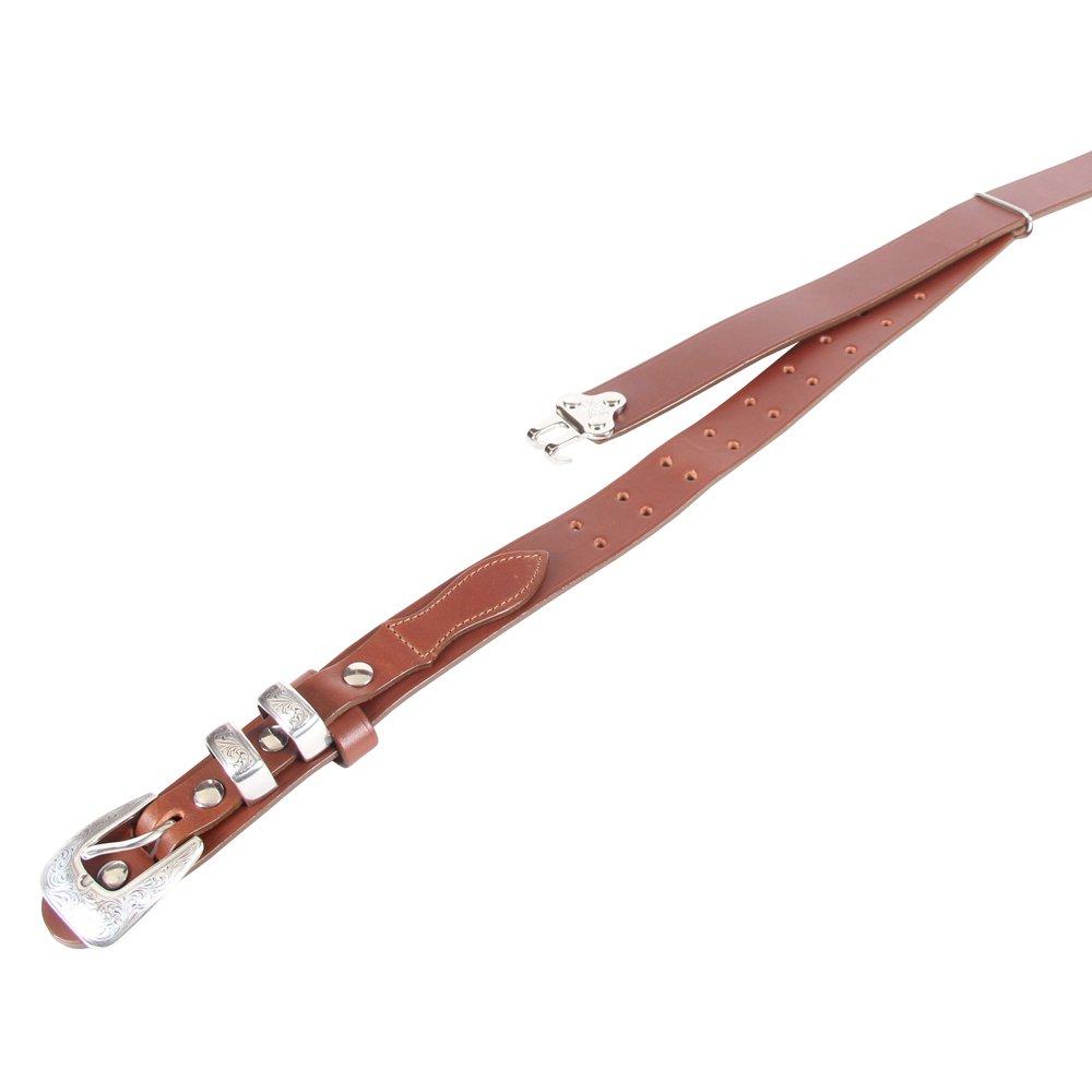 Brown Leather Mens Ranger Belt Adjustable No. 2 Nickel Buckle Italian Bridle Leather Large USA Made Unique Design by Col. Littleton (Image #2)