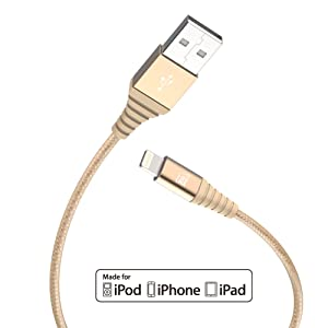 LAX Apple MFi Certified Cable - Nylon Braided 6ft Strong Lightning Cord - Lightning to USB Tough Charging Cord for iPhone 11, 11 Pro, 11 Pro Max, XS Max, XS, X, 8, 8 Plus, 7, 7 Plus, iPad, iPod & More