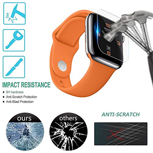 Price comparison product image Sonmer HD Full Coverage TPU Screen Protector Film For Apple Watch Series 4(Pack of 5) (44MM)