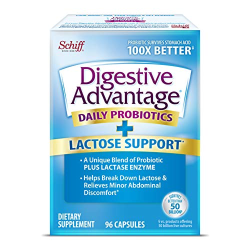 Daily Lactose Defense Capsules For Digestive Health & Gut Health, Digestive Advantage Probiotics for Men and Women (96…