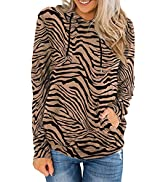 XCHQRTI Women's Casual Hooded Hoodies Tops Long Sleeve Drawstring Pullover Sweatshirts with Pocke...