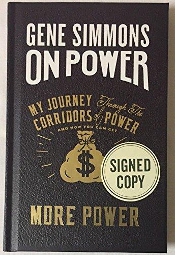 Gene Simmons Kiss Signed Book On Power JSA Certified Certified