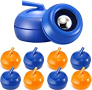 8 Pieces Tabletop Curling Game Pucks Replacement Shuffleboard Rollers Sliding Bead Games for Kids and Adults