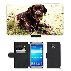 PU LEATHER case coque housse smartphone Flip bag Cover protection // M00109048 Dog animales Watchdog Deportes de // Samsung Galaxy S5 S V SV i9600 (Not Fits S5 ACTIVE)