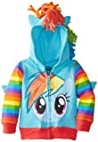 My Little Pony Little Girls' Toddler Rainbow Dash Hoodie, Blue/Multi, 4T
