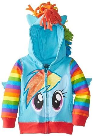 FREEZE Toddler Girls' My Little Pony Rainbow Dash Hoodie, Blue/Multi, 2T