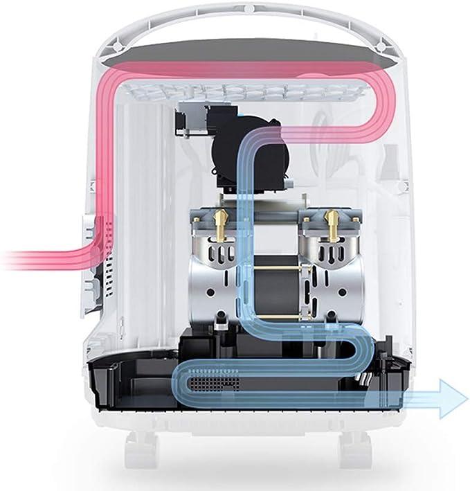 RKY Concentrador de oxigeno Concentrador de oxígeno, 0-5L, 90% de ...