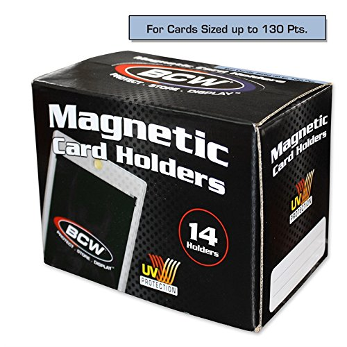 - Box of 14 BCW Magnetic Card Holders - 130 Pt.