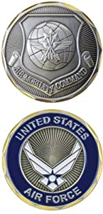 United States Military US Armed Forces Air Force Air Mobility Command - Good Luck Double Sided Collectible Challenge Pewter Coin