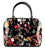 Bravo Beverly Hills Luxury HANDBAG ~Anuta Flower Print Leather Pocketbook
