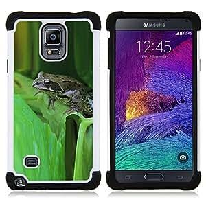- green toad forest leaf tropical/ H??brido 3in1 Deluxe Impreso duro Soft Alto Impacto caja de la armadura Defender - SHIMIN CAO - For Samsung Galaxy Note 4 SM-N910 N910