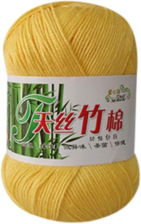 TianranRT - Ovillo de lana de bambú (algodón suave y cálido, 50 g), Multicolor: Amazon.es: Bricolaje y herramientas