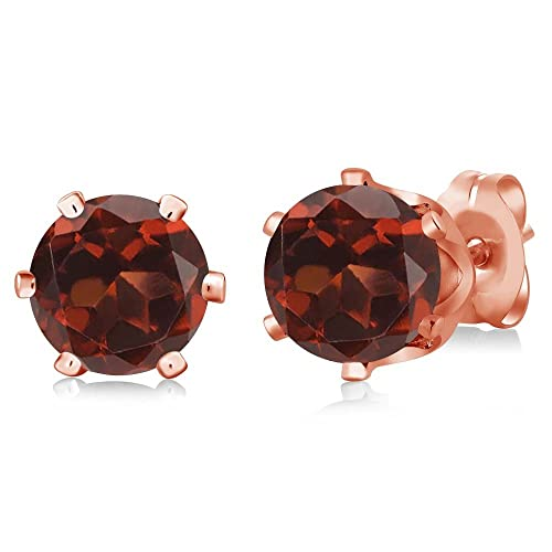 Amazon.com: 2.00 ct ronda Rojo Garnet Rose Gold Plated 6 ...