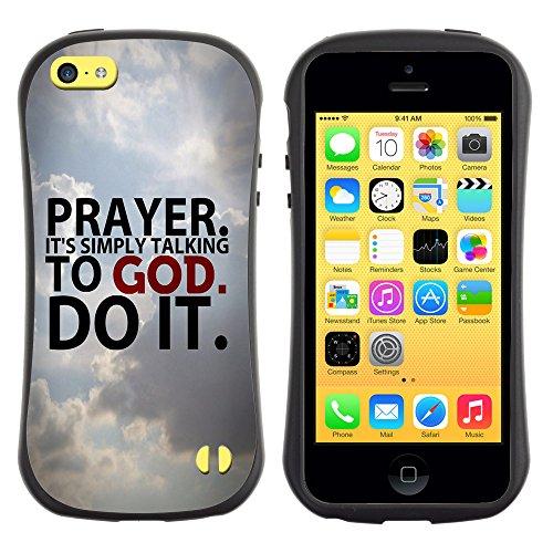 DREAMCASE Citation de Bible Silicone et Rigide Coque Protection Image Etui solide Housse T¨¦l¨¦phone Case Pour APPLE IPHONE 5C - PRAYER. IT'S SIMPLY TALKING TO GOD.