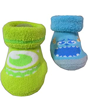 Disney Monster University Socks - Baby Boys Size 0-6 Months [5012]