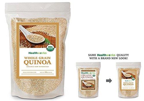 Healthworks Quinoa White Whole Grain Organic, 2lb