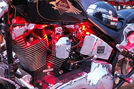 Amazon.com: 4 pieza motocicleta LED Kit de luz Dual Mandos a ...
