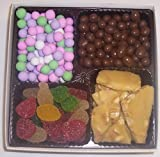 Scott's Cakes Large 4-Pack Pectin Fruit Gels, Peanut Brittle, Chocolate Peanuts, & Chocolate Dutch Mints