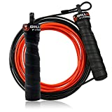 5BILLION Jump Rope & Skipping Rope - Groove Handle - Adjustable with Ball Bearings - Workout for Double Unders, Fitness, WOD, Outdoor, MMA & Boxing Training