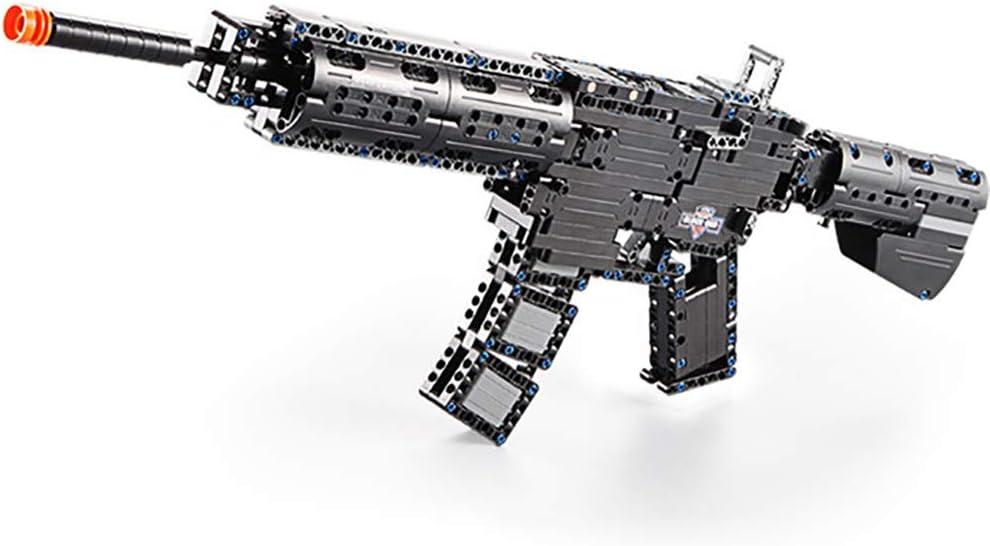 SU Niño Bloque de construcción Modelo de Pistola Rifle de Asalto M4A1 Juguete Lanzable Armar Interacción
