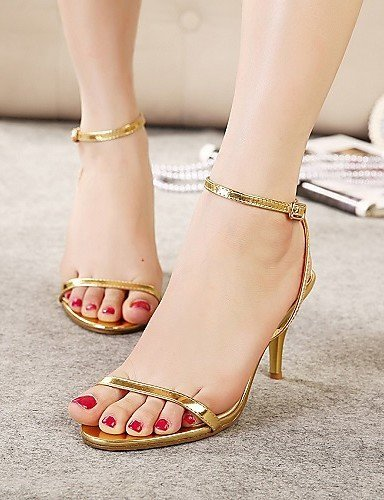 ShangYi Womens Shoes Leatherette Stiletto Heels Sandals Wedding/Outdoor/Office&Career/Party & Evening/Dress/Casual White