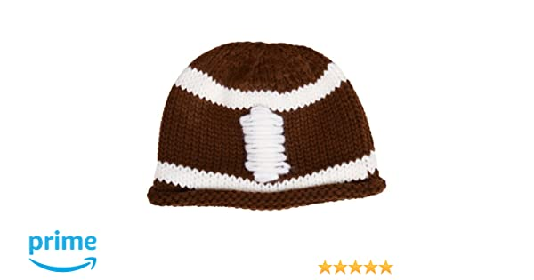 ed0fdc253f2 Amazon.com  juDanzy Crochet Knit Baby   Toddler Boys Football Hat  Clothing