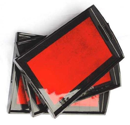 (Red Lacquer tray - 10