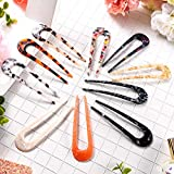 10 Pieces U-Shaped Hairpin with 2 Prongs Hair Pin