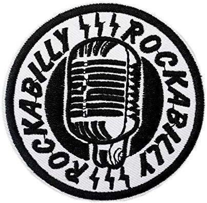 Rockabilly - Parche bordado para planchar o coser