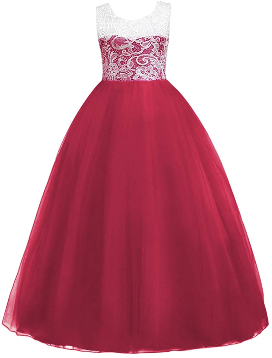 Tulle Dresses 7-16 Flower Lace Pageant