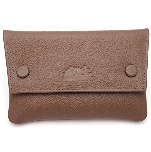 - Pipe Tobacco Leather Pouch - Authentic Full Grade Cow Leather - Cognac